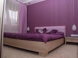 bedroom bedroom interior purple mixed cream painted bedroom wall