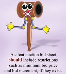free bid sheet templates to hold a silent auction