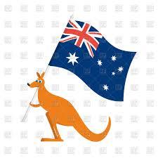 Ustralia Flag Australia Day Emblem Kangaroos And Australian Flag Royalty Free