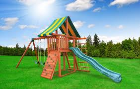wooden swing set jump power ufo swing set mr shed wood swing sets