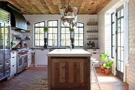reclaimed wood bookcase kitchen contemporary with arched window