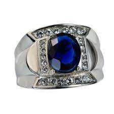 model cincin blue safir cincin perak pria giorsiba blue sapphire pusat cincin kawin perak
