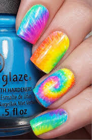 best 25 tie dye nails ideas on pinterest hippie nail art funky
