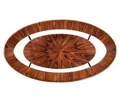 art deco oval glass topped high lustre coffee table