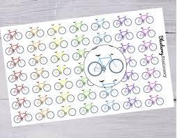 agenda sur bureau autocollant vélo collant agenda bicycle sport planner