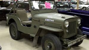 willys jeep truck for sale vintage willys jeep cj3b military vehicle youtube