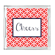 monogrammed serving platter monogrammed lucite tray personalized acrylic tray home decor