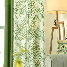 Green Kitchen Curtains Green Kitchen Curtains Tropical Fern Leaf Green Blackout Curtains
