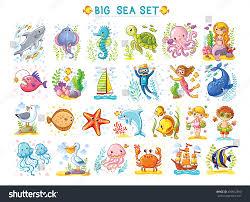 big marine set vector illustration on stock vector 450812890
