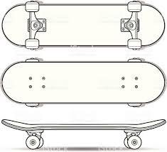 skateboard outline stock vector art 165800903 istock