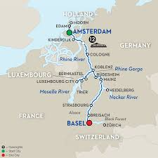 Trier Germany Map by 13 Day Avalon River Cruise From Amsterdam To Basel 2017