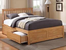 impressive full size bed storage brown modern twin design in king