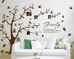 x large family photo tree u0026 birds art vinyl wall sticker diy