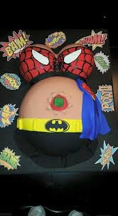 marvel baby shower stomach baby shower activities