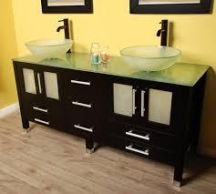 Bathroom Vanities With Glass Tops Bathroom With Glass Vanity Featured Bottom Shelf Beautiful Glass