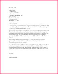 Nursing Position Cover Letter Cover Letter For Nursing Job Sop Examples