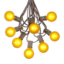Vintage Globe String Lights by Yellow Outdoor String Lights