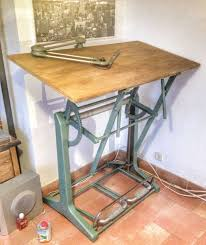Drafting Table Antique Vintage Industrial Drafting Table Official Industrial Drafting