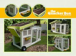 the quacker box a green roof duck house or coop tractor via