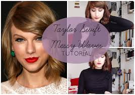 messy u0027taylor swift u0027 waves for short hair tutorial sunday