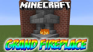 minecraft grand fireplace tutorial youtube