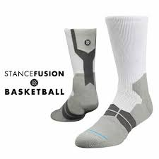 the overtime s performance basketball socks white gray by