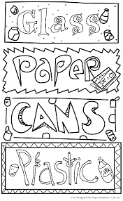 recycling coloring pages free coloring pinterest recycling