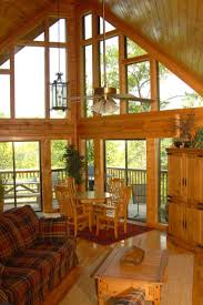 Log Home Interior Design 59 Best Lakefront Interior Images On Pinterest Architecture