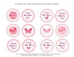 baby shower cupcake printable toppers baby shower diy