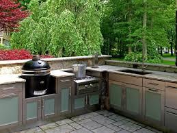 outdoor kitchen beautiful rectangle creamy stone outdoor kitchen