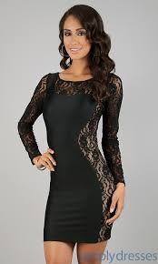 long sleeve black dress cheap all women dresses