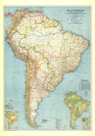 Geographical Map Of South America by 1942 South America Map Historical Maps