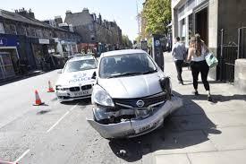 police car involved in crash in stockbridge edinburgh evening news