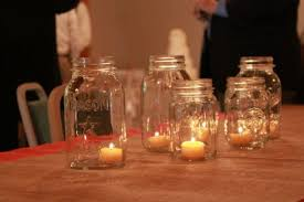 Mason Jar Candle Ideas Wedding Centerpieces Mason Jars Candles Ideaswedwebtalks Wedwebtalks
