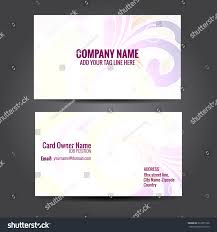 Email Business Card by Vector Floral Design Business Card Template Stock Vector 233275120