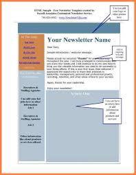 newsletter sample in word newsletter template free word