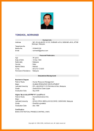 Resume Sample In Malaysia by Example Resume For Fresh Graduate In Malaysia Augustais