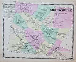 Vt Map Shrewsbury Vt Vermont Sold Antique Maps And Charts