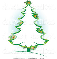 christmas tree clip art outline clip art decoration