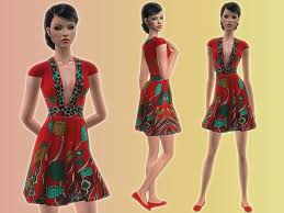 Liana Sims 2 Preview Women S Clothing Swimwear Mod The Sims Flower Dresses For Fa Everyday And Formal
