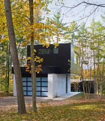 small lake house two part cantilevered lake house encore