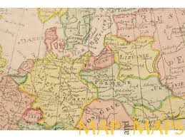 Old Europe Map by Map Of Europe Poland Old Copper Plate Map By Rigobert Bonne 1787