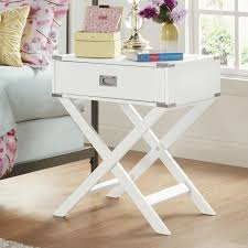 Small Bedroom End Tables White Modern Bedroom Decor 1 Drawer Bedside Table Nightstand End