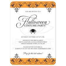make your own halloween party invitation wording printable