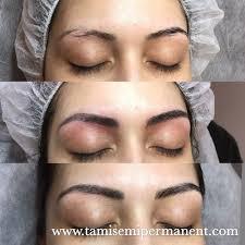 1 before 2 immediate after 3d semi permanent eyebrow 3 healed
