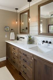 vanity light bathroom rustic with double sink bathroom mirror