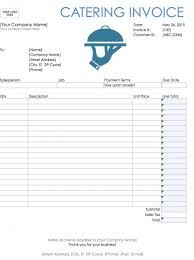 Editable Invoice Template Excel Catering Invoice Sle Catering Acknowledgement 6 Catering