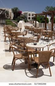 outdoor cafe table and chairs cafeteria outdoor cafe tables chairs outdoor stock photo royalty