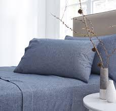 linea flannel bed linen range in blue house of fraser