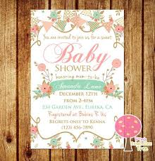 shabby chic baby shower ideas shabby chic baby shower invitations reduxsquad
